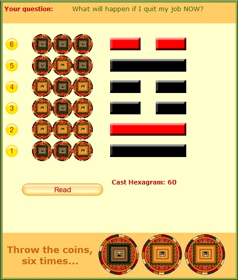 i ching coin method